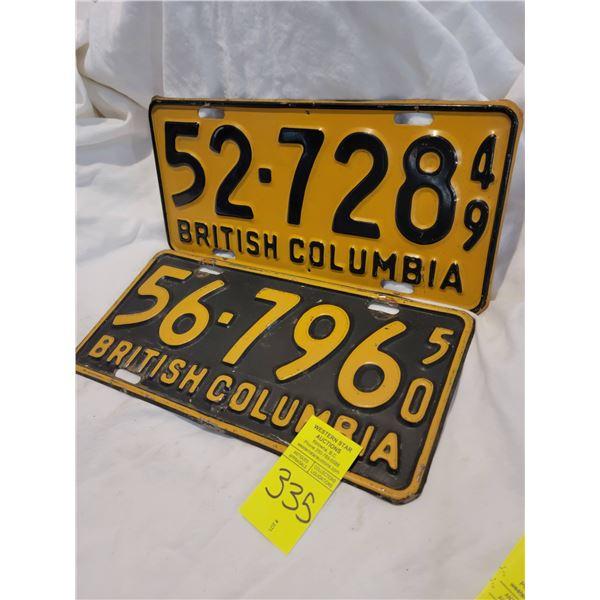 bc license plate 49 50
