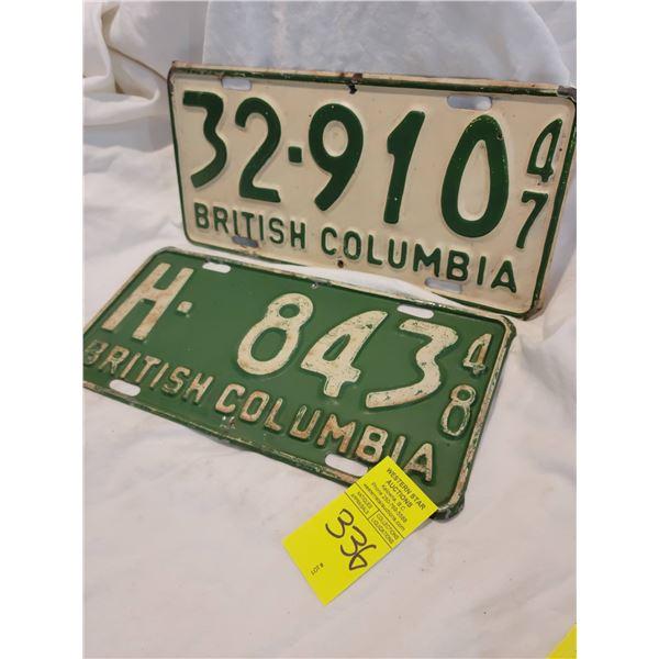 bc license plate 47 48