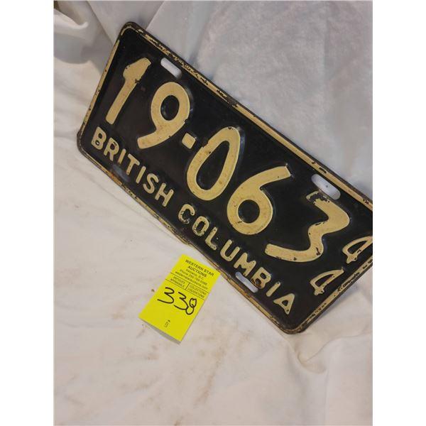 bc license plate 44