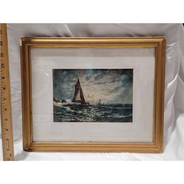 1907 watercolor Marion Dixter Fisher 14 x 11