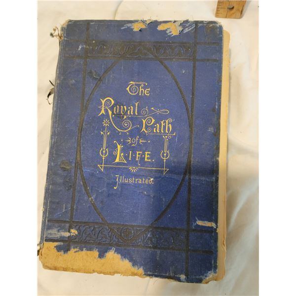 antique book the royal path of life rough