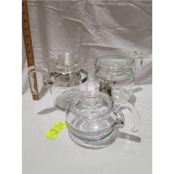 pyrex coffee tea glass lot