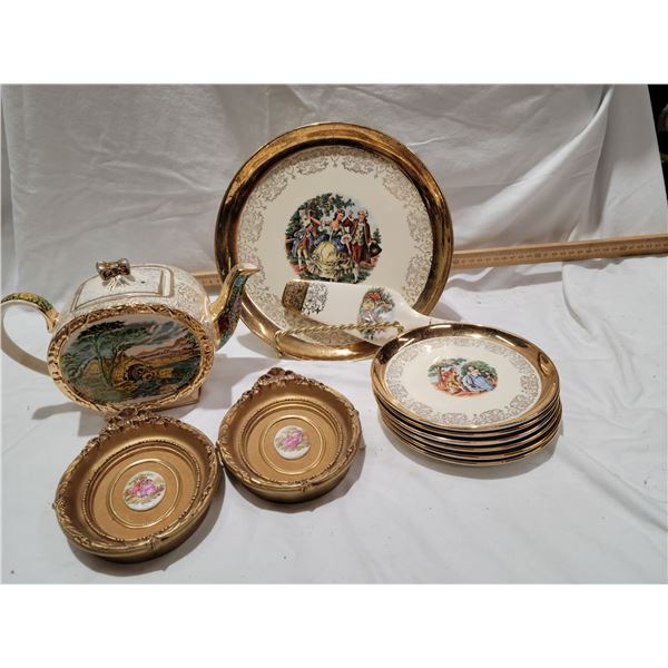 courting couple china assorted lot