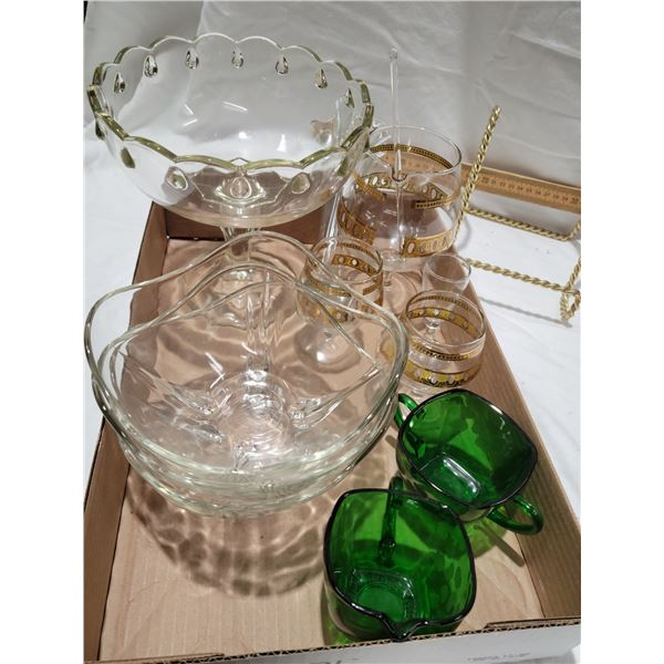 assorted glass lot