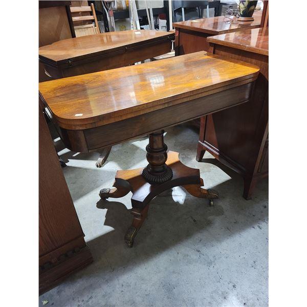 pedestal folding top card table