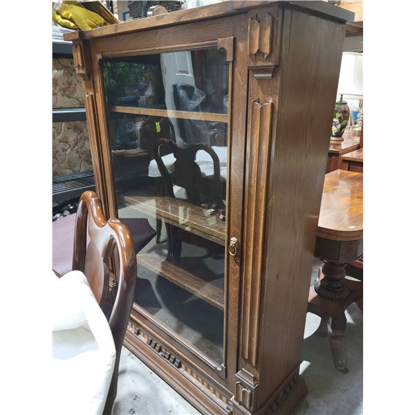 oak library antique
