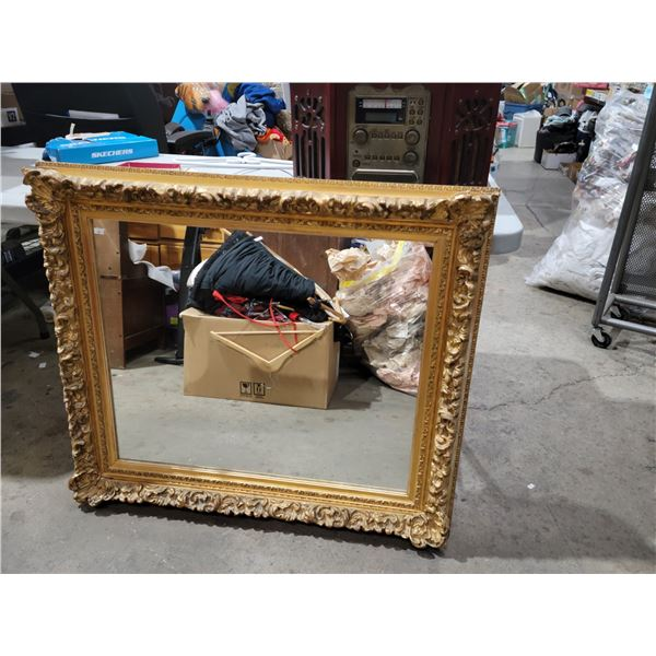 "large gesso mirror 38"" x 33"""