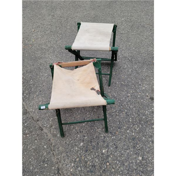 antique fold out stools rough