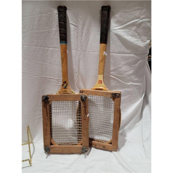 antique tennis raquets