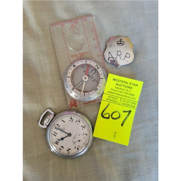 lot compass ARP pin watch