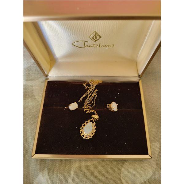 opal necklace earrings