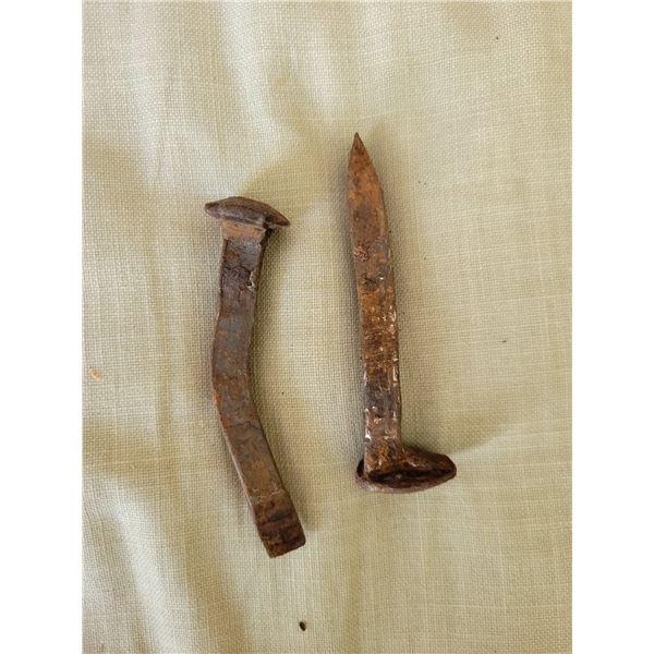 2 antique spikes