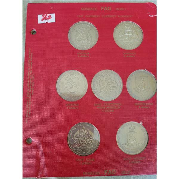 coin  set Carribean