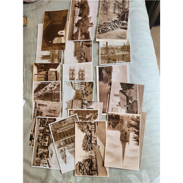 huge lot of old london postcards