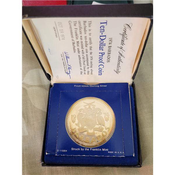 $10 proof coin Barbados