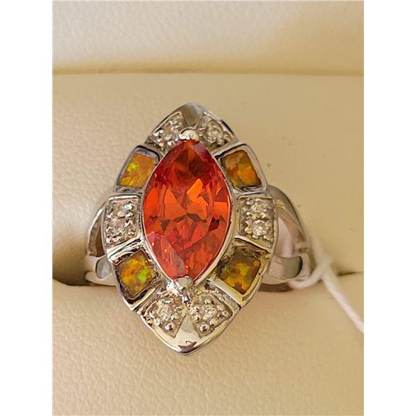 Sterling Tourmaline Opal ring $782