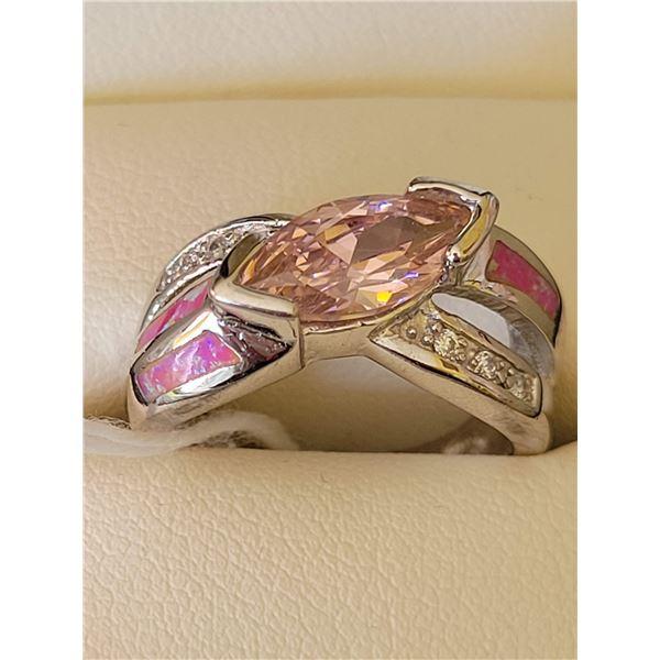 Sterling Kunzite Opal ring $698