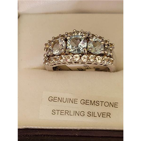 Sterling gemstone ring