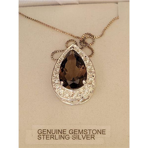 Sterling gemstone necklace
