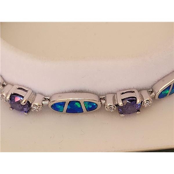 Opal Amythest bracelet