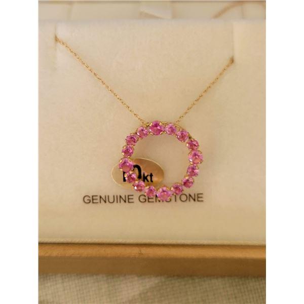 10 kt pink necklace