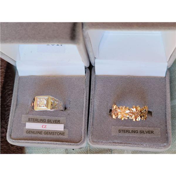 lot sterling rings 2