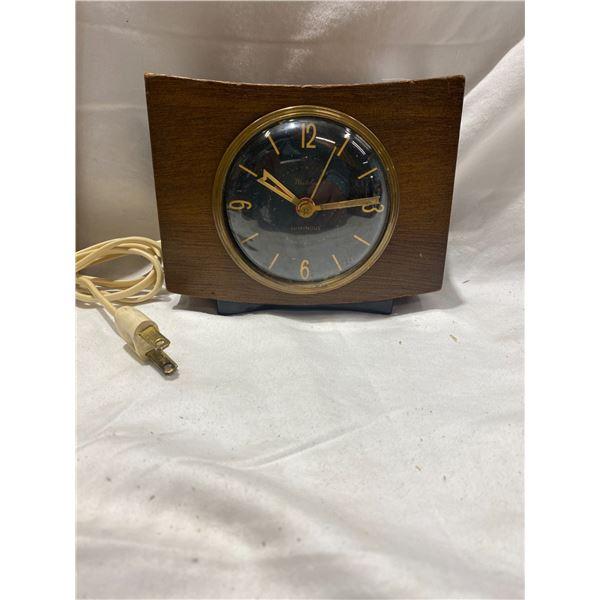Westclox Pittsfield electric desk clock 1950's works