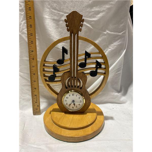 KevsCrafts maple guitar desk clock works