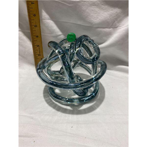 Murano Infinity Knot glass sculpture