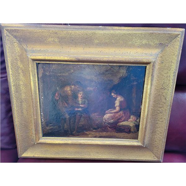 antique painting signed Sir John Gilbert 1817 - 1897
