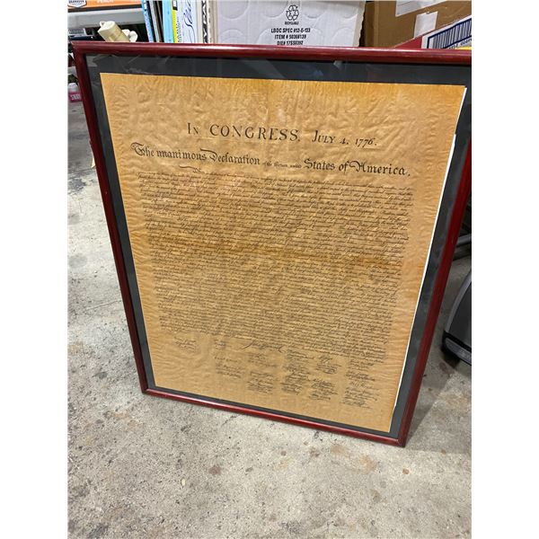 In Congress, July 4, 1776 framed