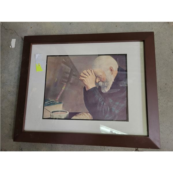 framed picture contemplation