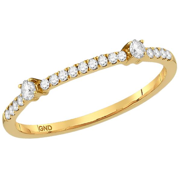 Diamond Stackable Band Ring 1/6 Cttw 14kt Yellow Gold