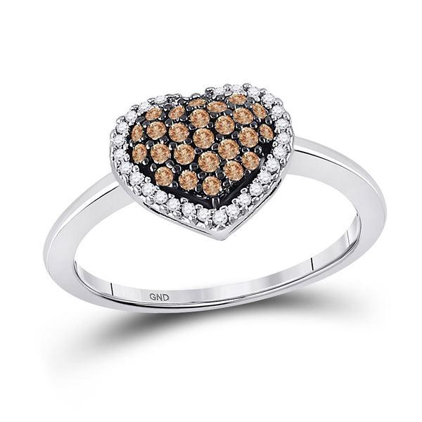 Heart Ring 1/3 Cttw 10k White Gold