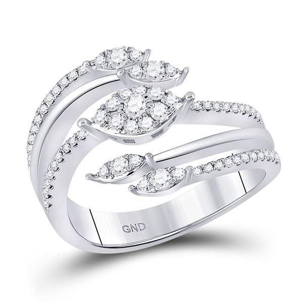 Diamond Open Strand Band Ring 1/2 Cttw 14kt White Gold