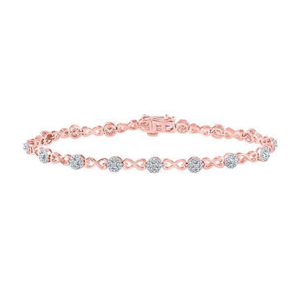 Diamond Infinity Bracelet 1/2 Cttw 14kt Two-tone Gold