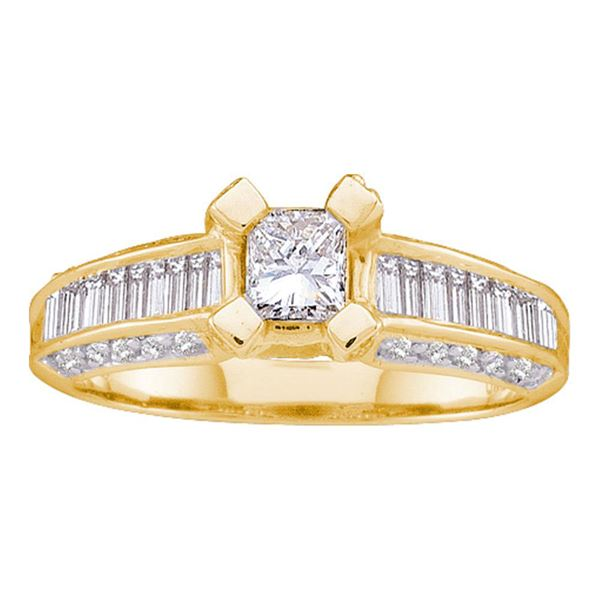 Princess Diamond Solitaire Bridal Wedding Engagement Ring 1 Cttw 14kt Yellow Gold