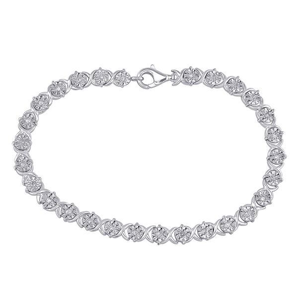 Diamond Fashion Tennis Bracelet 1/3 Cttw Sterling Silver