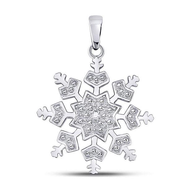 Diamond Snowflake Fashion Pendant .01 Cttw Sterling Silver