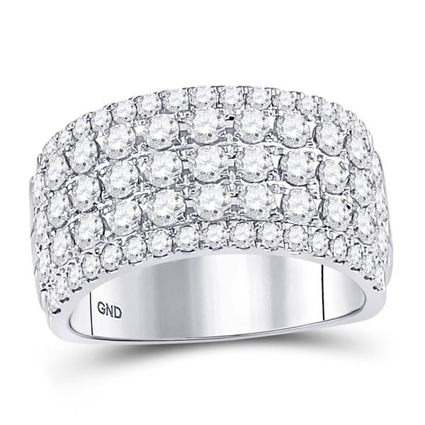 Diamond Band Ring 2 Cttw 10kt White Gold