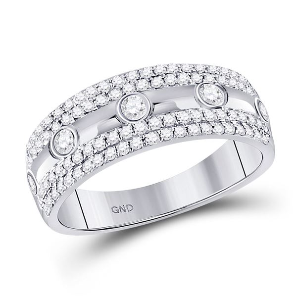 Diamond Anniversary Ring 1/2 Cttw 10kt White Gold