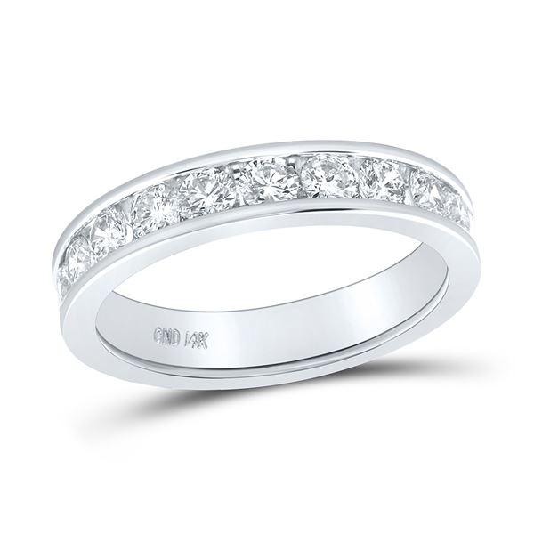 Diamond Wedding Single Row Band 1 Cttw 14kt White Gold