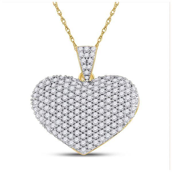 Diamond Charmed Heart Pendant 1 Cttw 14kt Yellow Gold