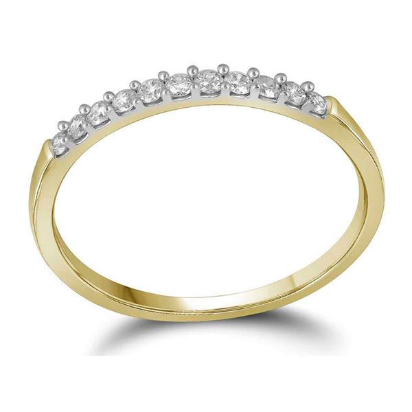 Diamond Wedding Single Row Band 1/6 Cttw 10kt Yellow Gold