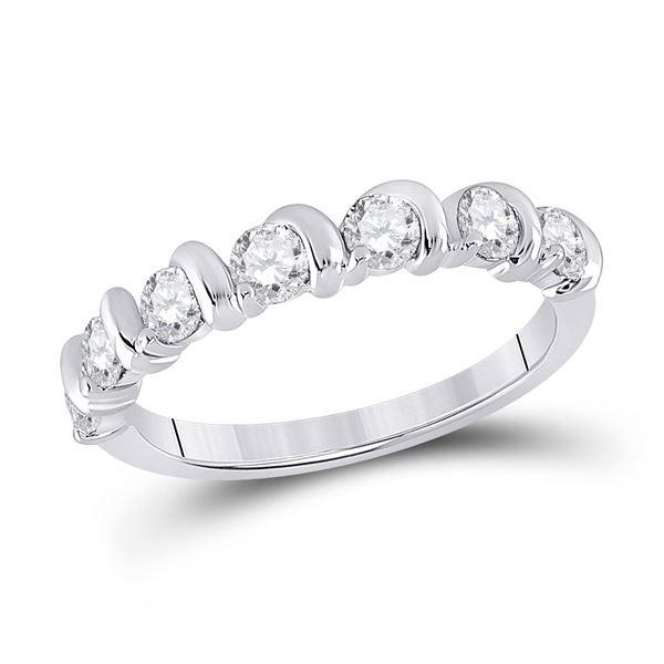 Diamond Band Ring 3/4 Cttw 14kt White Gold