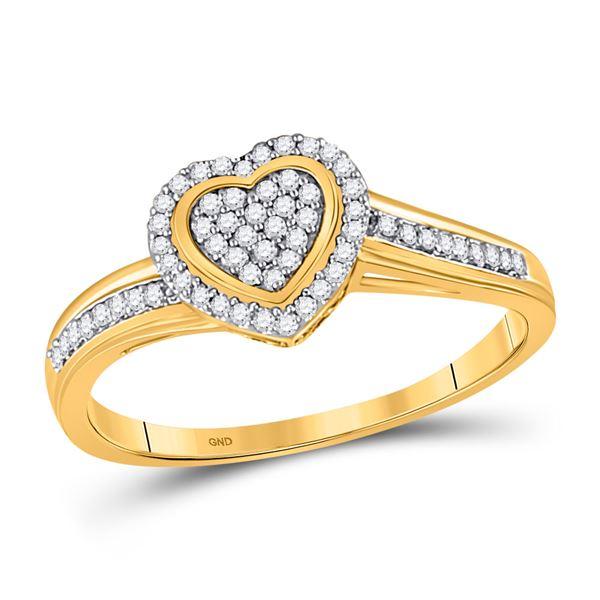 Diamond Heart Ring 1/6 Cttw 10kt Yellow Gold