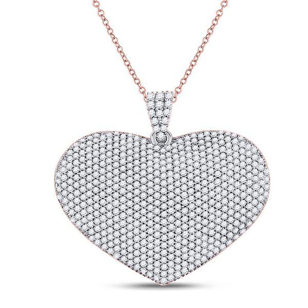 Diamond Charmed Heart Pendant 2 Cttw 14kt Yellow Gold