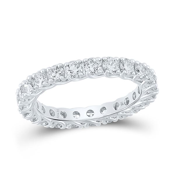 Diamond Eternity Wedding Band 2 Cttw 14kt White Gold