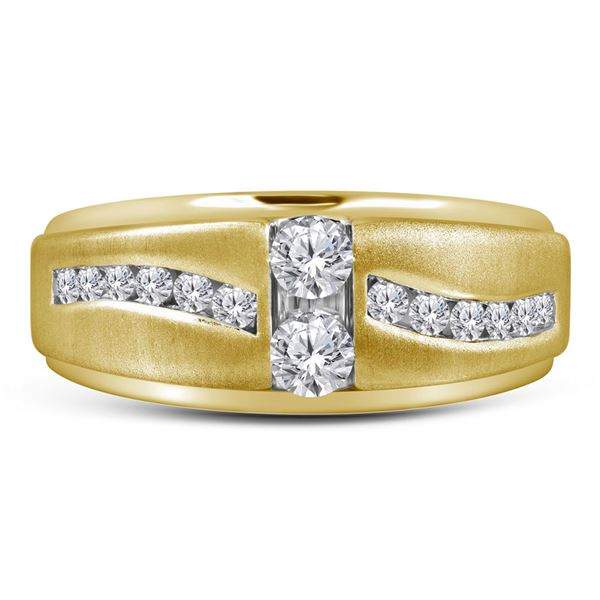 Mens Diamond Wedding Band Ring 5/8 Cttw 10kt Yellow Gold