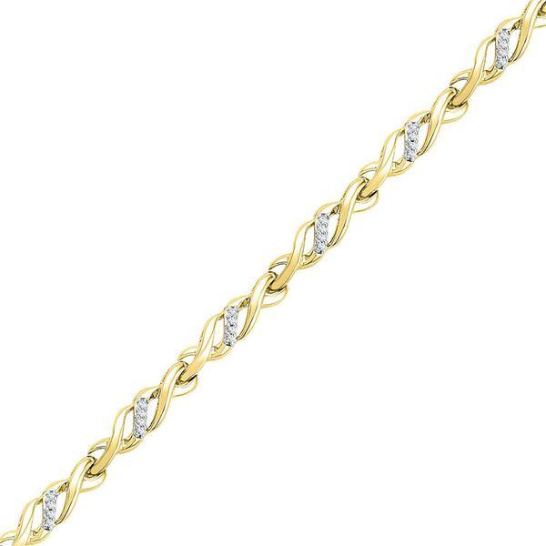 Diamond Infinity Bracelet 1/6 Cttw 10kt Yellow Gold